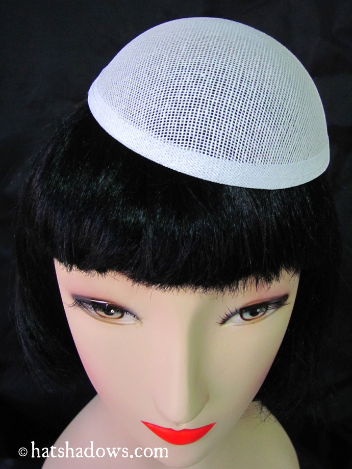 5 White buckram Oval dome millinery hat frames for Fascinators and Hat Making