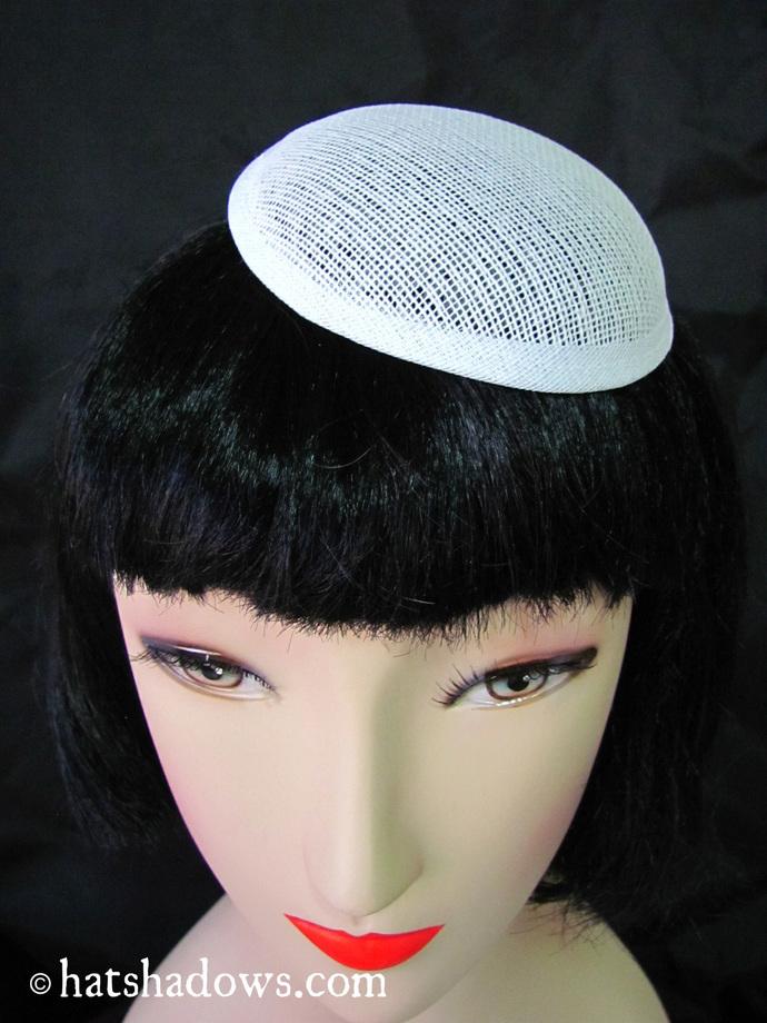 5 Cupula Round Millinery White Buckram Hat Frames