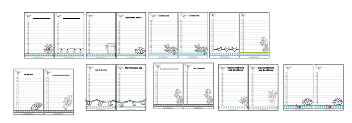 Various Printable of Important To- Do- List 18 To DO List -2 Per Page Legal Size