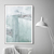 Abstract Landscape Painting,white and mint Print, Coastal Print, Minimalist