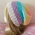 READY TO SHIP Crochet Pastel Rainbow Stripe Lightweight Slouchy Hat - Women's /