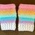 READY TO SHIP Pastel Rainbow Stripe Gloves - Women's / Teens - Pastel Goth,