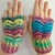 READY TO SHIP Pastel Rainbow Gloves - Women's / Teens - Pastel Goth, Fairy Kei,