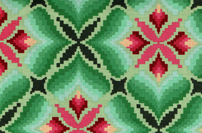 Cotton Quilt Fabric Tapestry Print Clear Water Green Multi