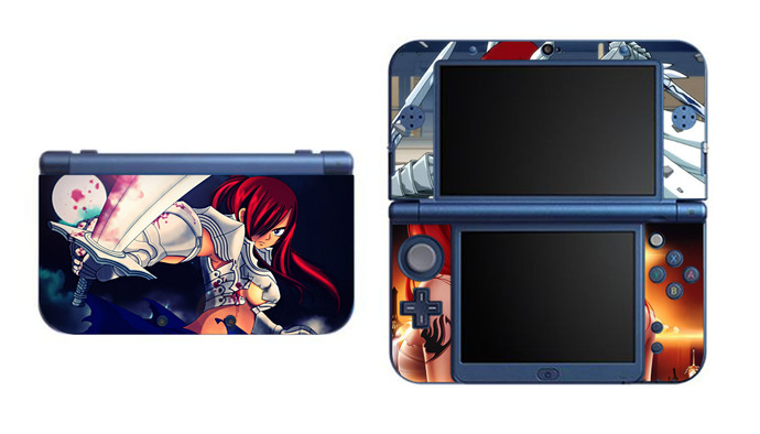 Fairy Tail Erza Scarlet NEW Nintendo 3DS XL LL, 3DS, 3DS XL Vinyl Sticker / Skin