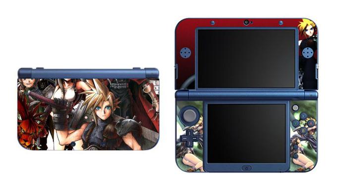 FF7 NEW Nintendo 3DS XL LL, 3DS, 3DS XL Vinyl Sticker / Skin Decal
