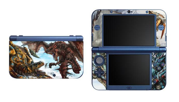 Monster Hunter NEW Nintendo 3DS XL LL, 3DS, 3DS XL Vinyl Sticker / Skin Decal