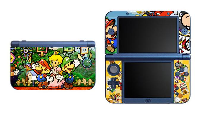 Paper Mario NEW Nintendo 3DS XL LL, 3DS, 3DS XL Vinyl Sticker / Skin Decal