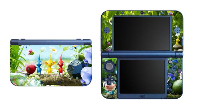 Pikmin NEW Nintendo 3DS XL LL, 3DS, 3DS XL Vinyl Sticker / Skin Decal