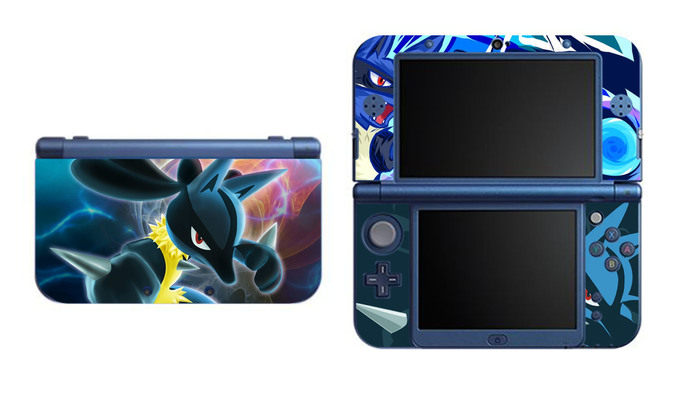 POKEMON  LUCARIO NEW Nintendo 3DS XL LL, 3DS, 3DS XL Vinyl Sticker / Skin Decal