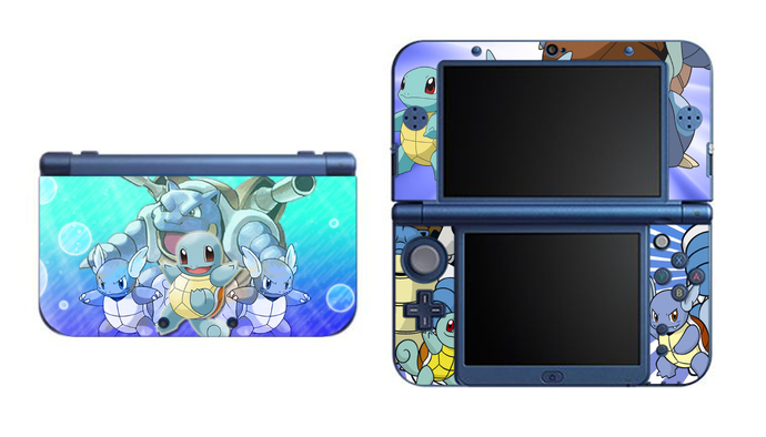 Pokemon  SQUIRTLE NEW Nintendo 3DS XL LL, 3DS, 3DS XL Vinyl Sticker / Skin Decal