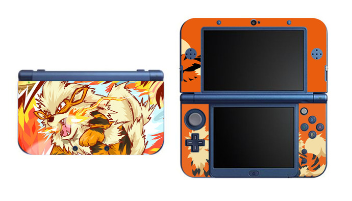 Pokemon Arcanine NEW Nintendo 3DS XL LL, 3DS, 3DS XL Vinyl Sticker / Skin Decal