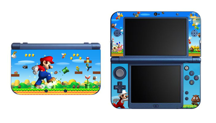 Super Mario NEW Nintendo 3DS XL LL, 3DS, 3DS XL Vinyl Sticker / Skin Decal