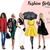 Fashion Girls - Volume 11 - Dark skin Watercolour fashion illustration clipart