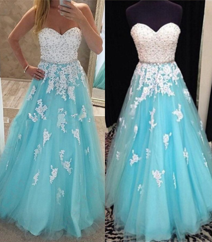Charming Prom Dress,Beading Prom Gown,Sweetheart Prom Dress,Beading Prom Gown