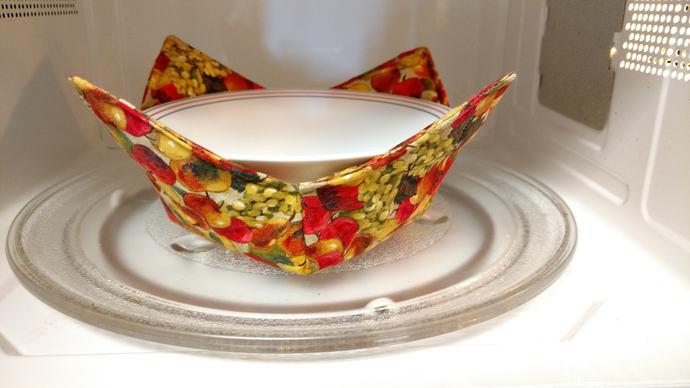 Soup Bowl Cozy, Microwave Bowl Cozy, Soup Bowl Hot Pad, Ice Cream Bowl Cozy,