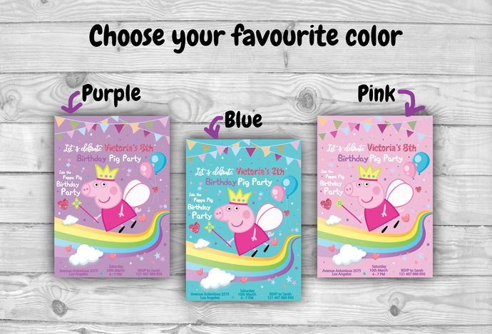 Peppa Pig Birthday Invitation Peppa Pig By Design Your Time On Zibbet