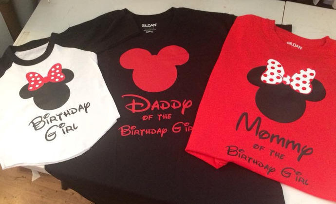 Mickey Or Minnie Mouse Birthday Family Shirts Personalized Disney Shirt