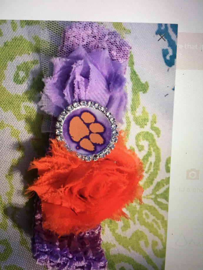 Clemson Tigers or Gamecocks hair clip
