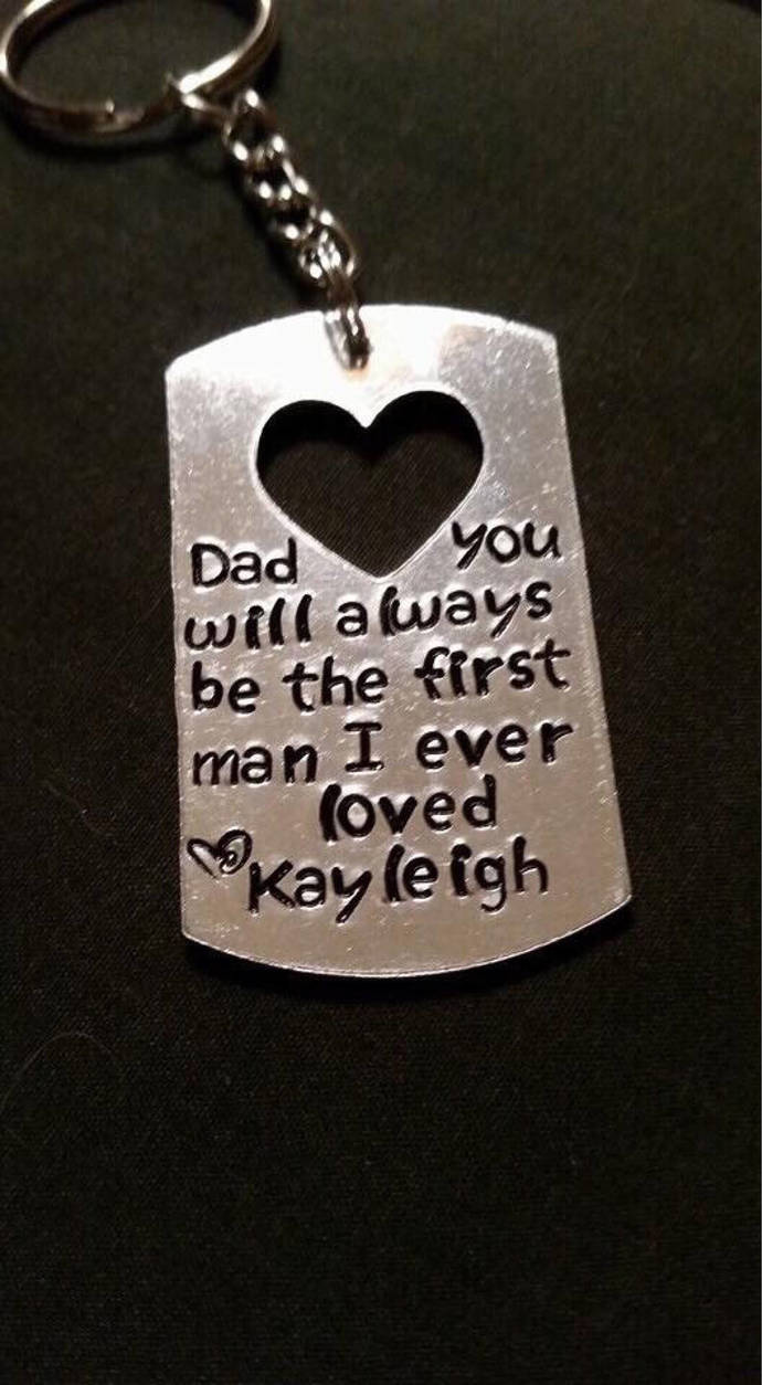 Matching Father Daughter set, Dad you will always be the first man I ever loved
