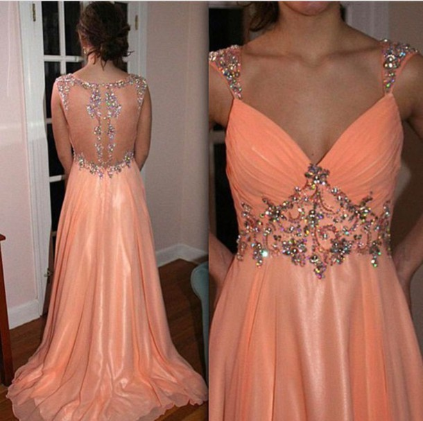 Charming Prom Dress,Chiffon Prom Gown,A-Line Prom Dress,Beading Prom Gown 0796