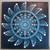 Blue Spinning Star Mandala Canvas Art