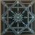 Blue Squares Mandala Canvas Art