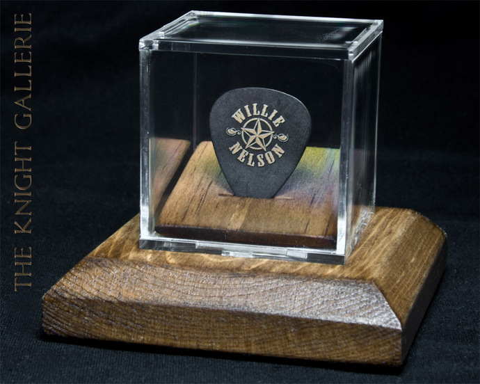 Commemorative Guitar Pick and Display case:  Willie Nelson