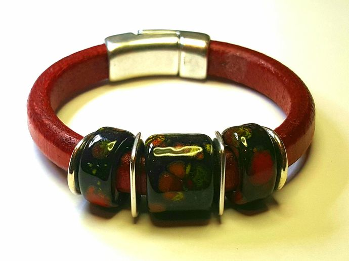 Regaliz Greek Leather Bracelet, Item #2410