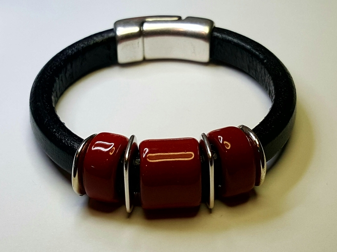 Regaliz Greek Leather Bracelet, Item #2412