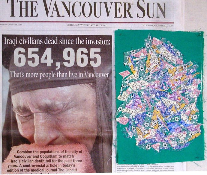 "Multiplying Losses: Little Children, a small meditation on war 9""x6"""