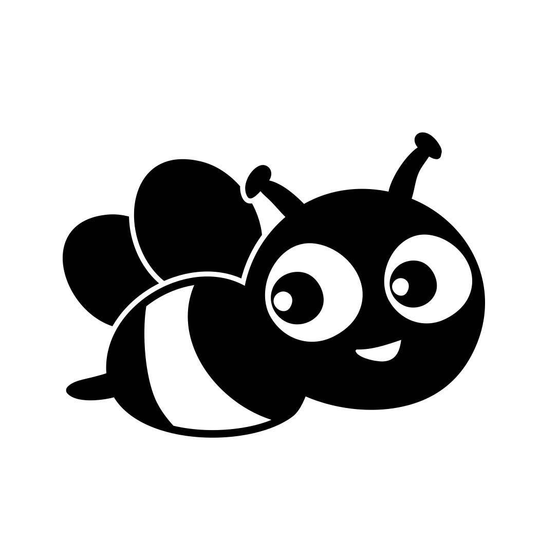 Cute Bee Bug Graphics SVG Dxf EPS Png Cdr Ai by ...