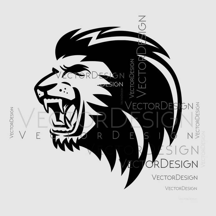 Lion Head v3 Graphics SVG Dxf EPS Png Cdr Ai Pdf Vector Art Clipart instant