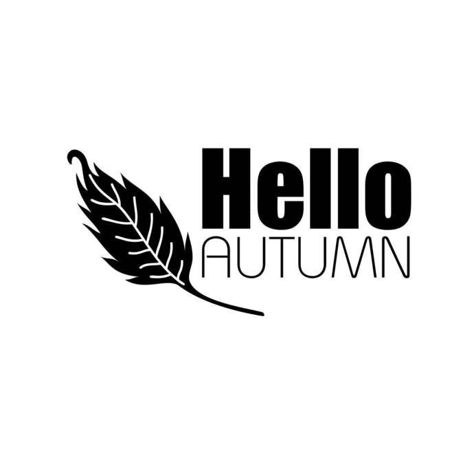 Hello Autumn Phrase letter Graphics SVG Dxf EPS Png Cdr Ai Pdf Vector Art