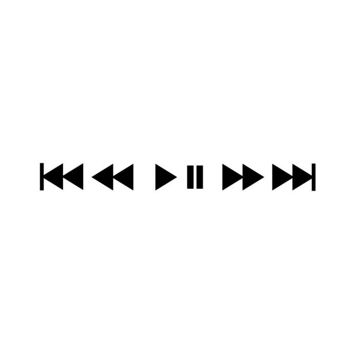 Music Play Pause Icons Next Back Track Graphics SVG Dxf EPS Png Cdr Ai Pdf