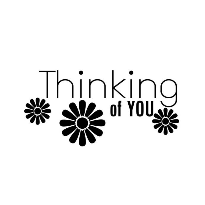 Thinking of you Phrase Graphics SVG Dxf EPS Png Cdr Ai Pdf Vector Art Clipart
