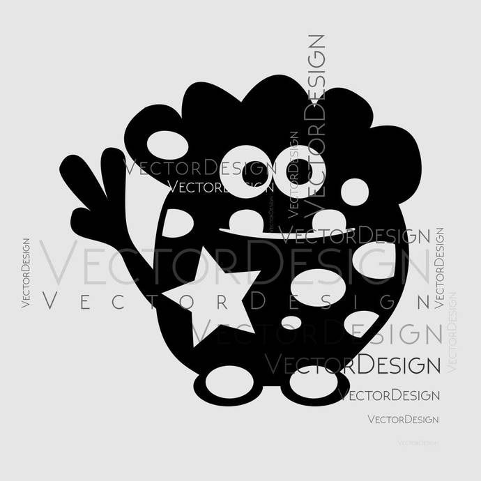 Cartoon Monster v6 Graphics SVG Dxf EPS Png Cdr Ai Pdf Vector Art Clipart