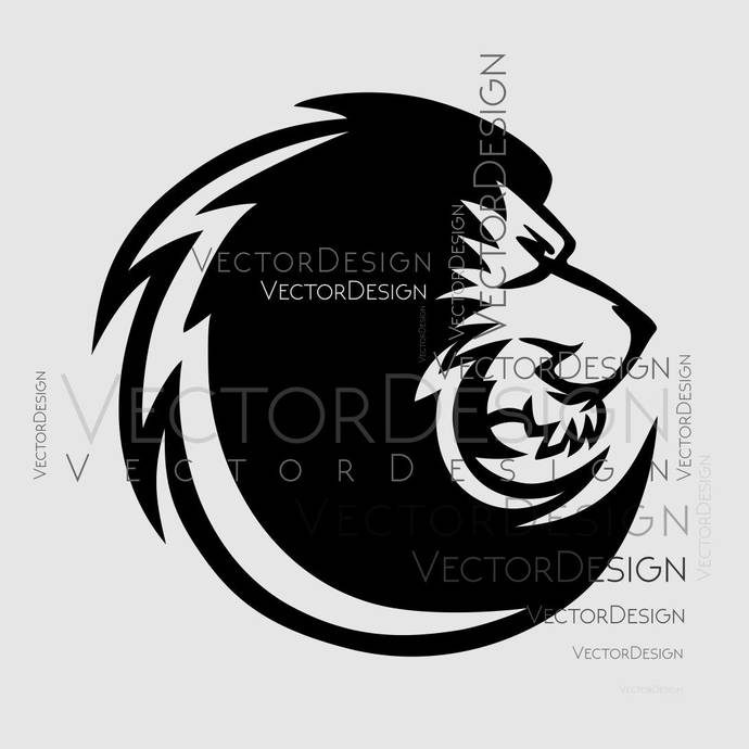 Lion Head v2 Graphics SVG Dxf EPS Png Cdr Ai Pdf Vector Art Clipart instant