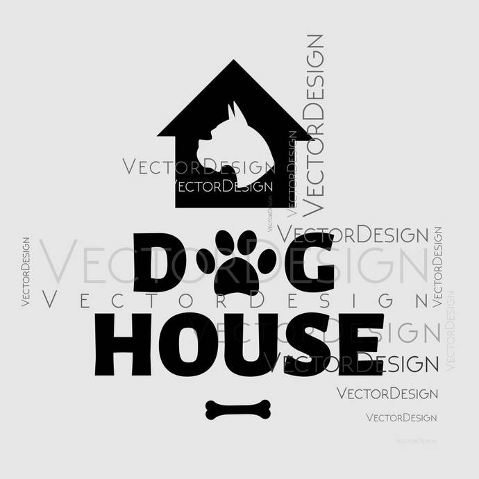 Dog House Graphics SVG Dxf EPS Png Cdr Ai Pdf Vector Art Clipart instant