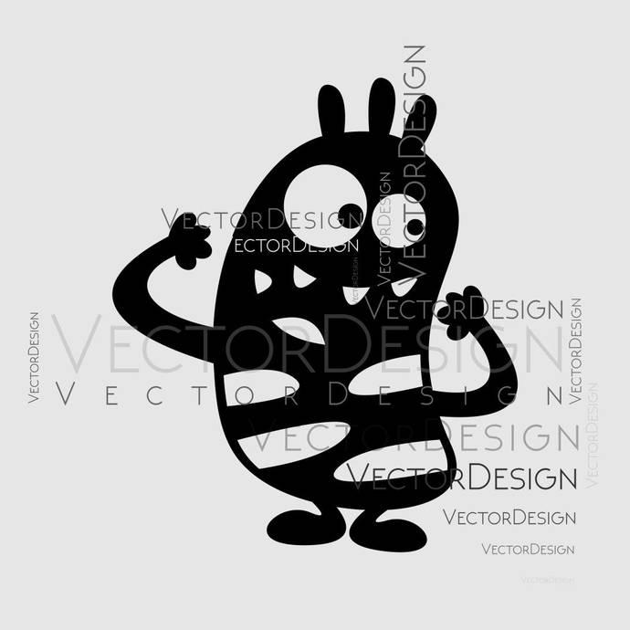 Cartoon Monster v5 Graphics SVG Dxf EPS Png Cdr Ai Pdf Vector Art Clipart