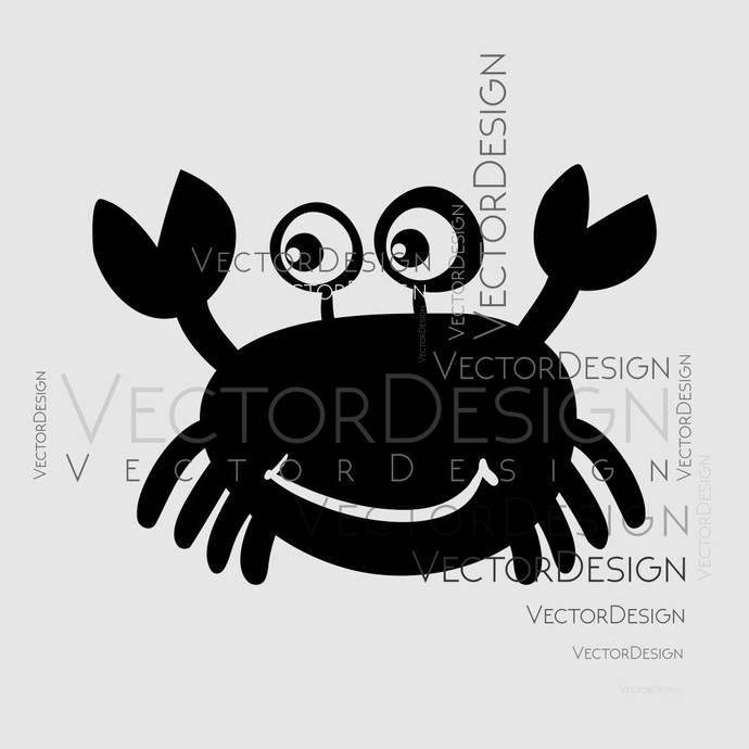 Cartoon Crab Graphics SVG Dxf EPS Png Cdr Ai Pdf Vector Art Clipart instant