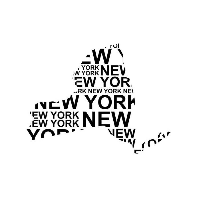 New York Map America Sign Graphics Svg Dxf By Vectordesign On Zibbet