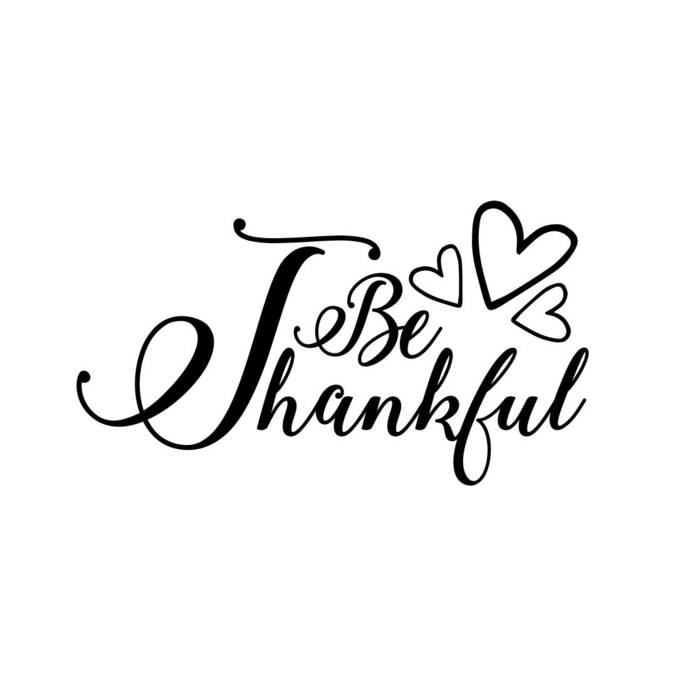 Be Thankful Heart sign phrase Graphics SVG Dxf EPS Png Cdr Ai Pdf Vector Art