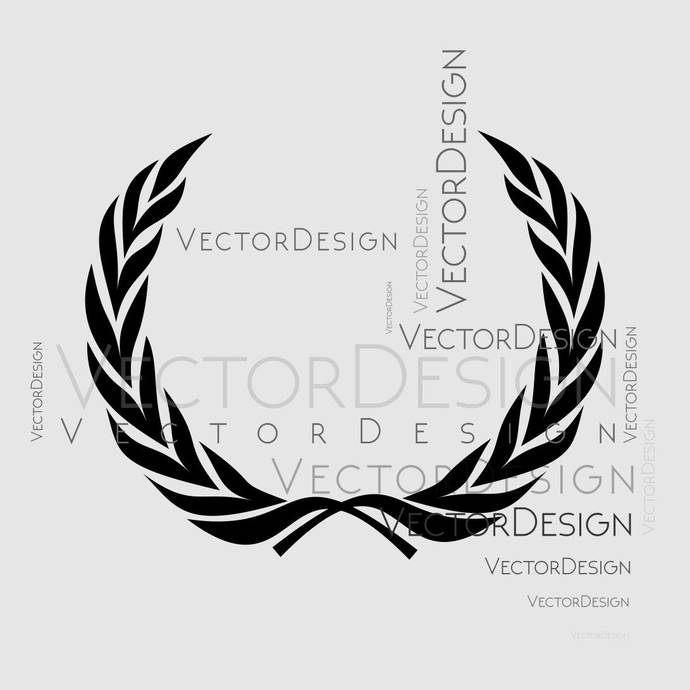 Laurel Wreath Leaves Graphics SVG Dxf EPS Png Cdr Ai Pdf Vector Art Clipart