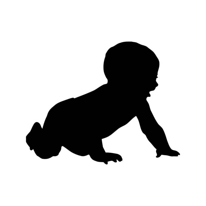 Baby Crawling Child Graphics SVG Dxf EPS Png Cdr Ai Pdf Vector Art Clipart