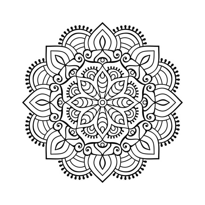 Mandala Graphics SVG Dxf EPS Png Cdr Ai Pdf Vector Art Clipart instant download