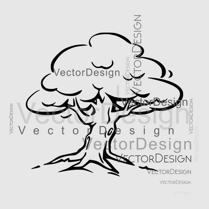 Tree Plant SVG design EPS Png Pdf Vector Art Clipart instant download Digital