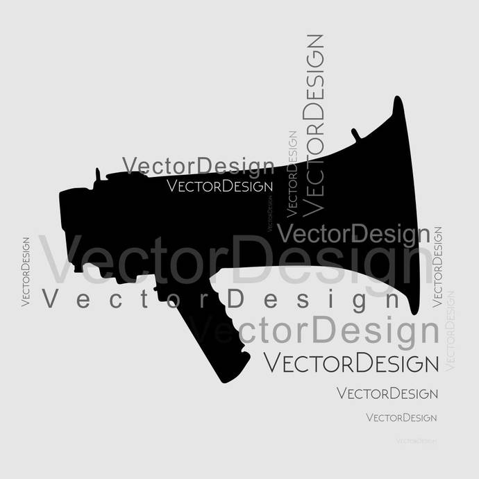 Audio Megaphone Speaker SVG design EPS Png Pdf Vector Art Clipart instant