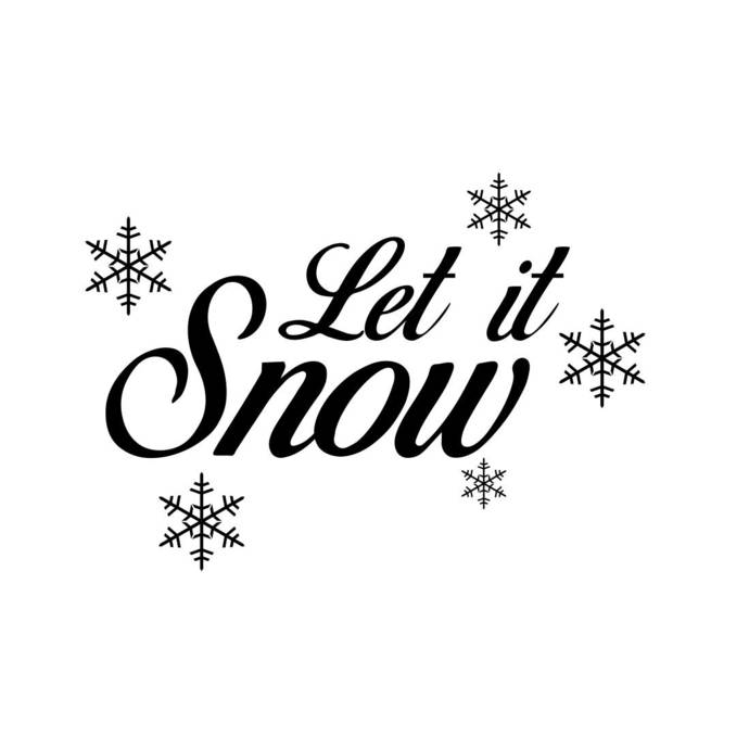 Let is Snow snowflakes christmas Graphics SVG Dxf EPS Png Cdr Ai Pdf Vector Art