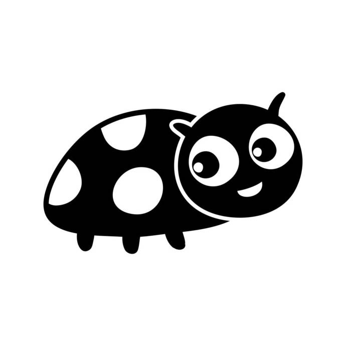 Lady Bug Cartoon Graphics SVG Dxf EPS Png Cdr Ai Pdf Vector Art Clipart instant